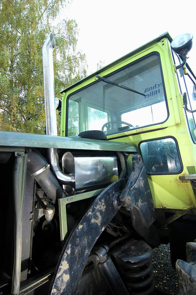 Schalldämpferbau - Mercedes MB Trac Turbo Traktor