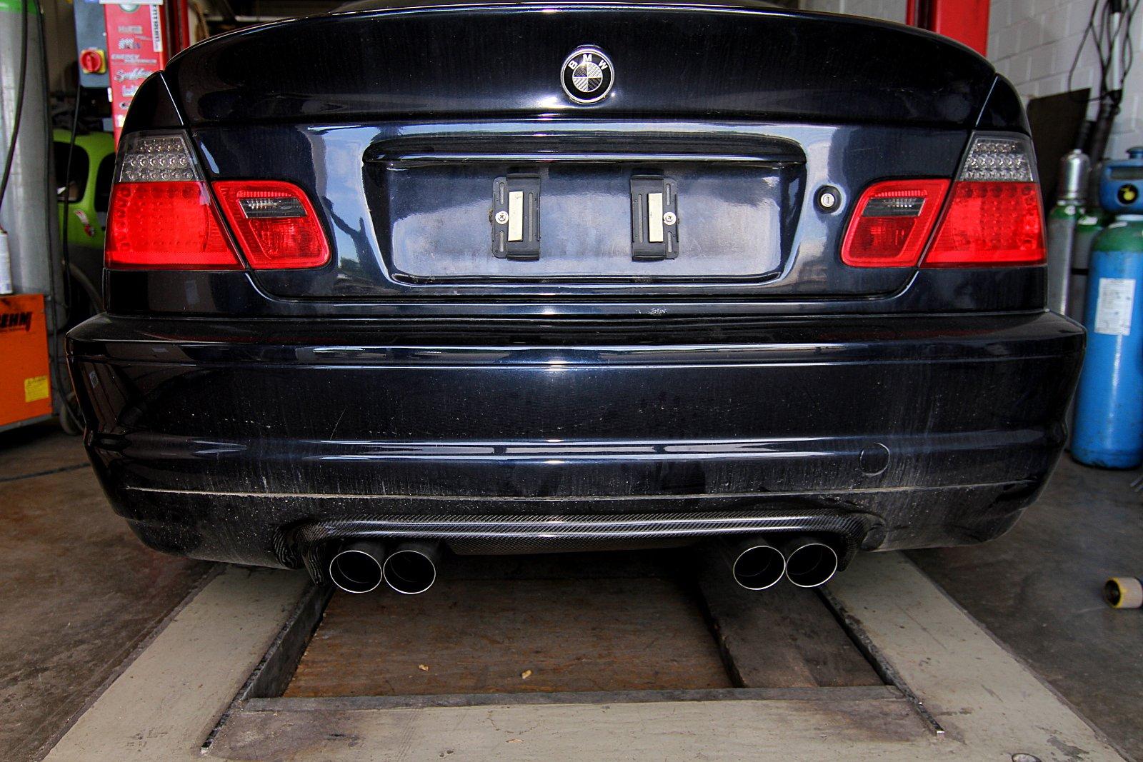 Endschalldämpfer BMW M3 E46 Kompressorumbau