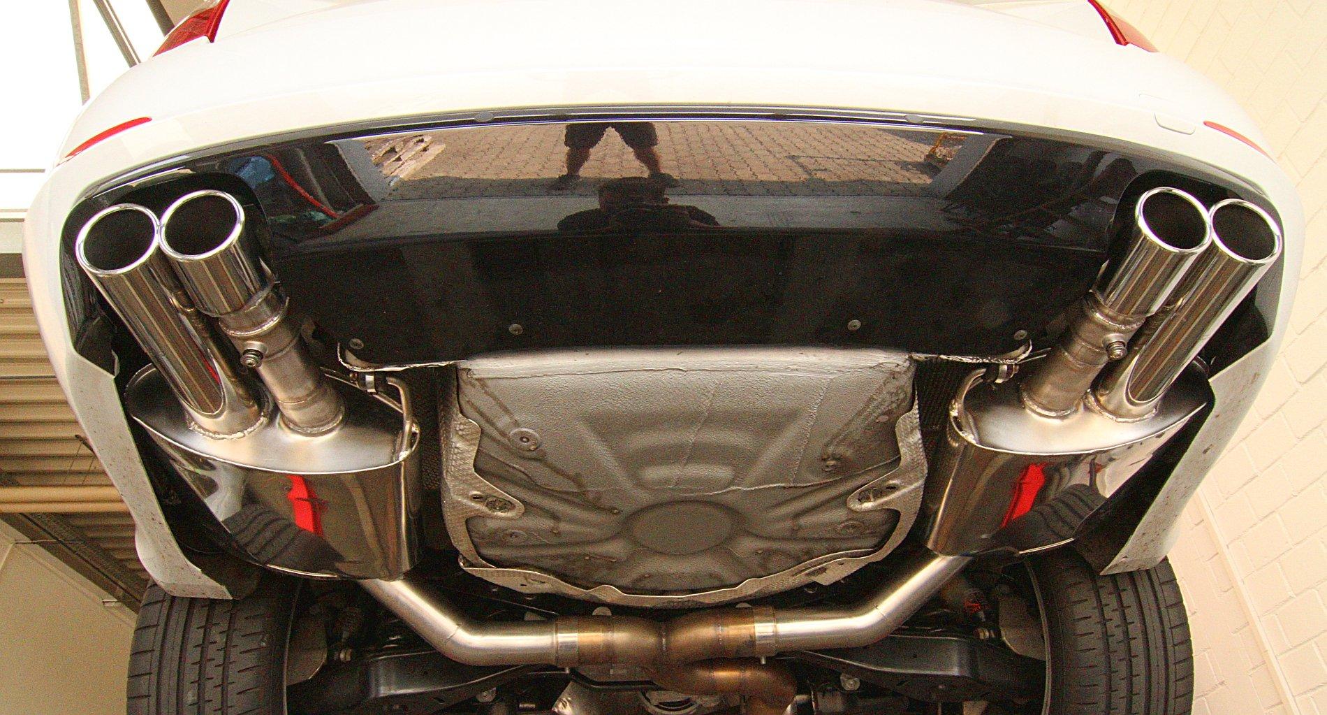 Skoda Superb 3,6 V6 - Endschalldämpfer mit Klappensteuerung