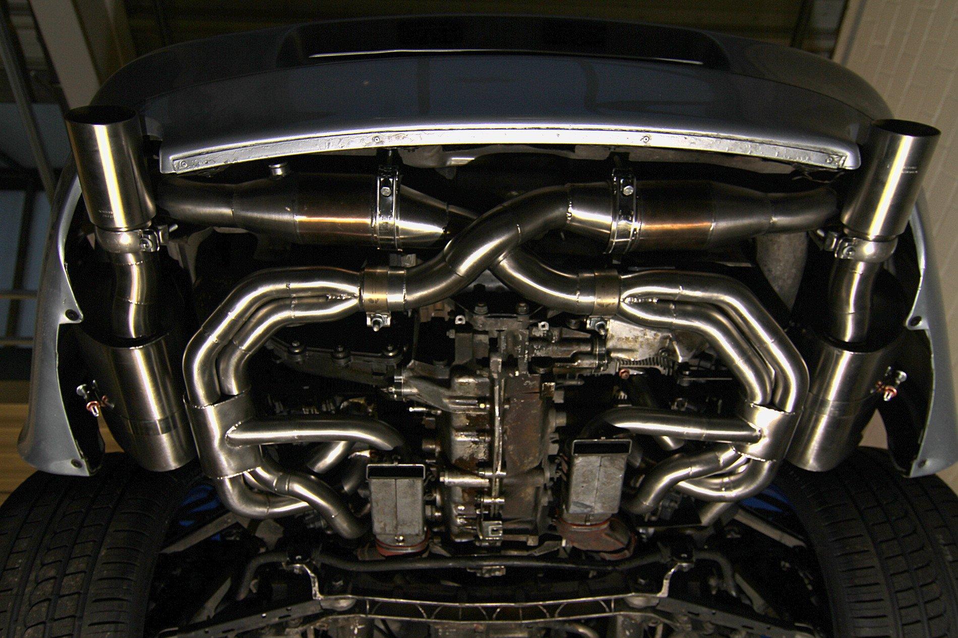 Porsche 993 Carrera - Sportabgasanlage mit Anschluss für Wärmetauscher